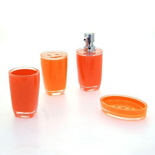 accessoires salle de bain couleur orange copyright with