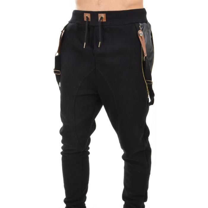 jogging sarouel homme bretelle multicolore achat vente pantalon jogging sarouel homme. Black Bedroom Furniture Sets. Home Design Ideas