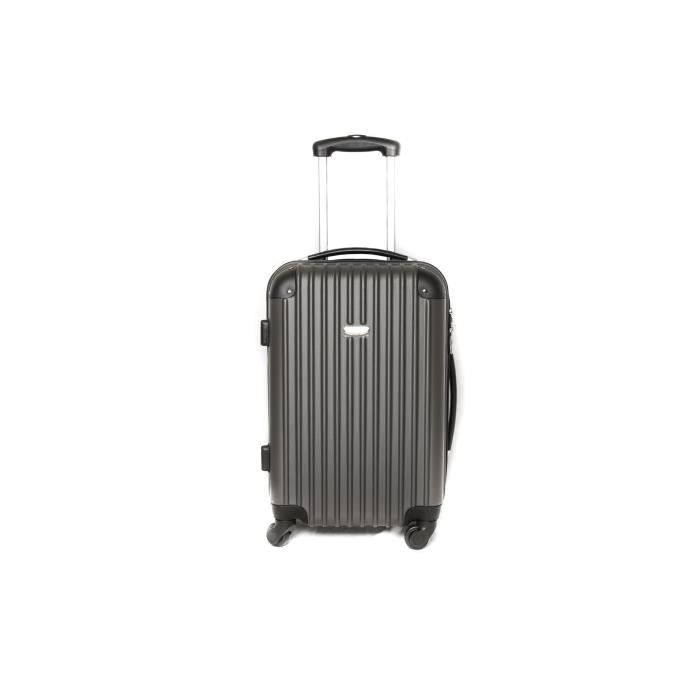 valise trolley taille cabine 4 roues gris gris ombre achat vente valise bagage. Black Bedroom Furniture Sets. Home Design Ideas
