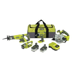 BATTERIE MACHINE OUTIL RYOBI Pack 4 outils 18V Lithium
