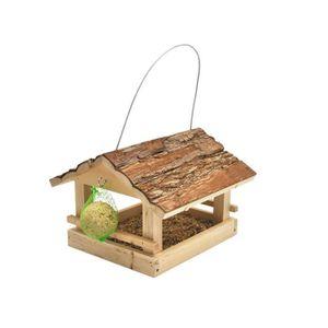 mangeoire a oiseaux en bois achat vente mangeoire a oiseaux en bois pas cher soldes d. Black Bedroom Furniture Sets. Home Design Ideas