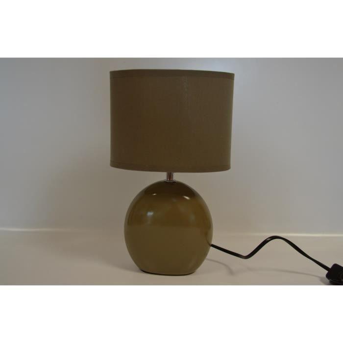 lampe de chevet pied ceramique taupe achat vente lampe de chevet pied cerami c ramique. Black Bedroom Furniture Sets. Home Design Ideas