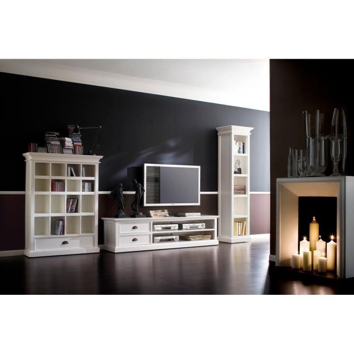 Grand meuble tv cygne meuble house achat vente for Meuble tv grande hauteur