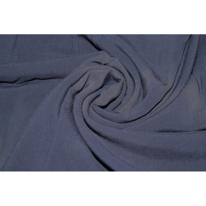 Tissu voile uni 100 viscose marine au m tre achat vente tissu tissu voile uni 100 viscose - Voile de forcage au metre ...