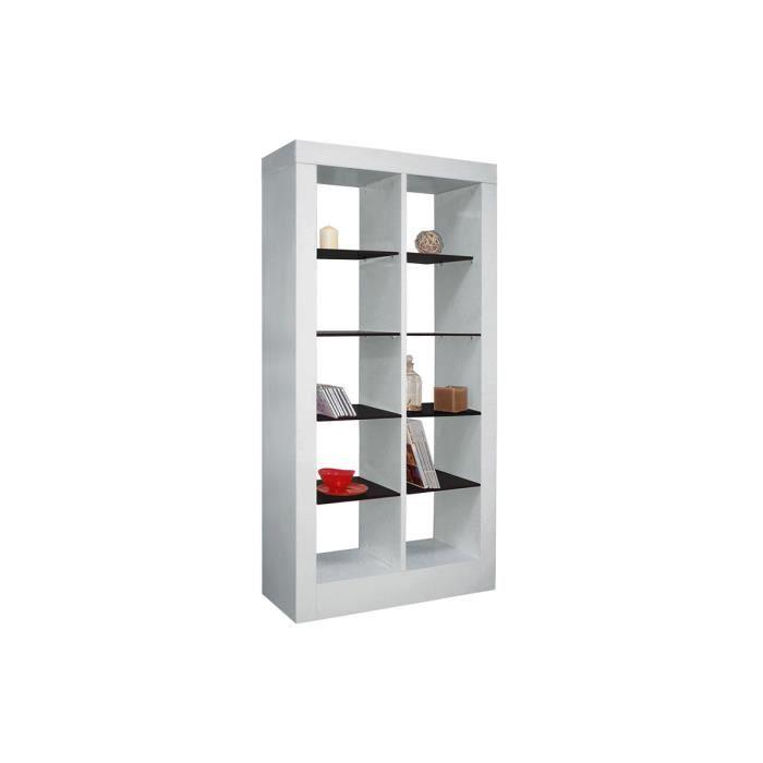 etag re blanc noir glam achat vente petit meuble rangement etag re blanc noir glam cdiscount. Black Bedroom Furniture Sets. Home Design Ideas