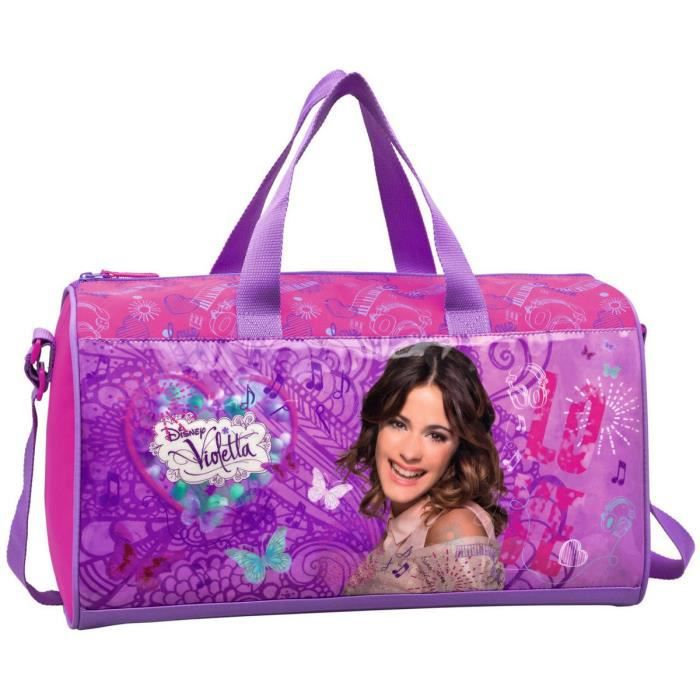 Violetta sac de sport 42 cm fille violet et rose achat - Jeux de fille de violetta ...