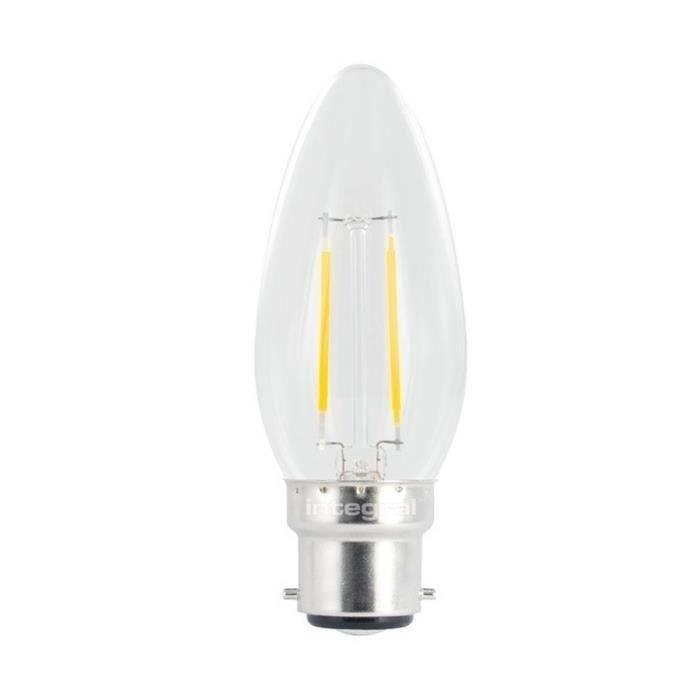 integral led ampoule flamme filament b22 250lm 2w quivalent 25w achat vente ampoule led. Black Bedroom Furniture Sets. Home Design Ideas