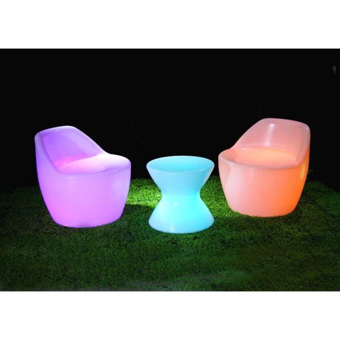 Salon 3 pi ces lumineux multicolore sans fil led achat - Mobilier jardin lumineux ...
