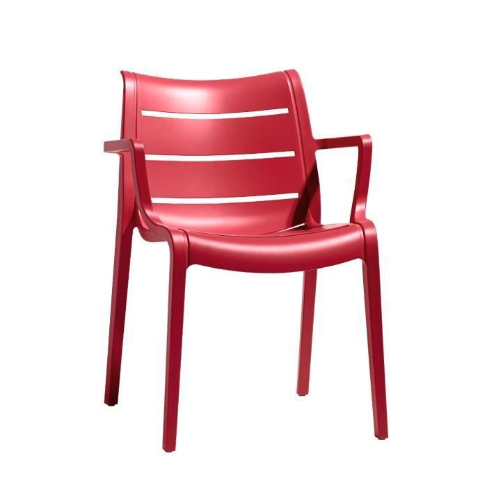 Chaise de jardin rouge achat vente chaise de jardin rouge pas cher cdis - Salon de jardin rouge ...