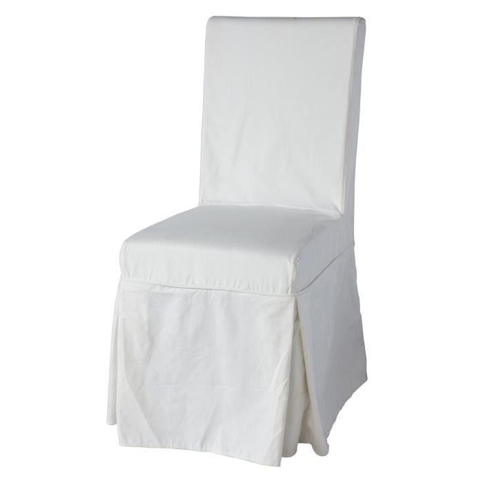 lot de 2 chaises d houssables lana dos avec nouettes coton achat vente chaise cdiscount. Black Bedroom Furniture Sets. Home Design Ideas