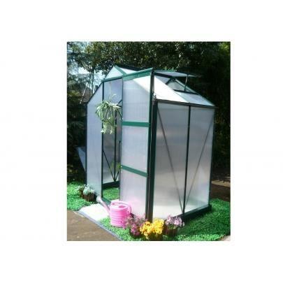 Serre de jardin en polycarbonate de 2 2 m greenio achat - Serres de jardin en soldes ...