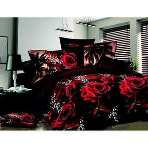 housse de couette 240x260 rouge achat vente housse de couette 240x260 rouge pas cher cdiscount. Black Bedroom Furniture Sets. Home Design Ideas