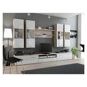 meuble tv en bois clair achat vente meuble tv en bois clair pas cher cdiscount. Black Bedroom Furniture Sets. Home Design Ideas