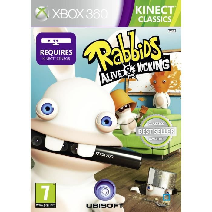 lapins cr tins 5 kinect classics jeu xbox 360 achat. Black Bedroom Furniture Sets. Home Design Ideas