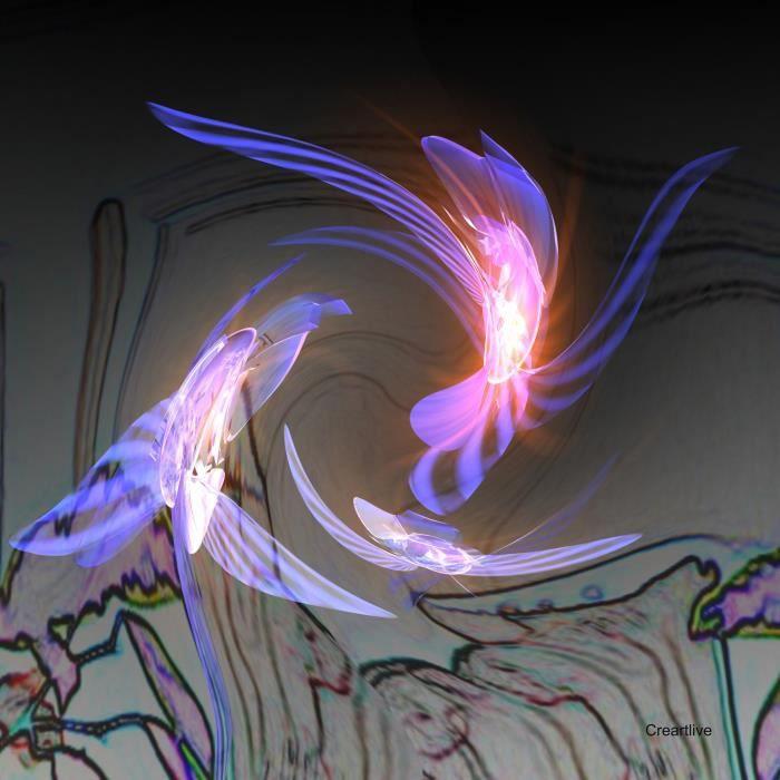 Tableau artistique verre acrylique envol d 39 orchid es achat vente ta - Eclat baignoire acrylique ...