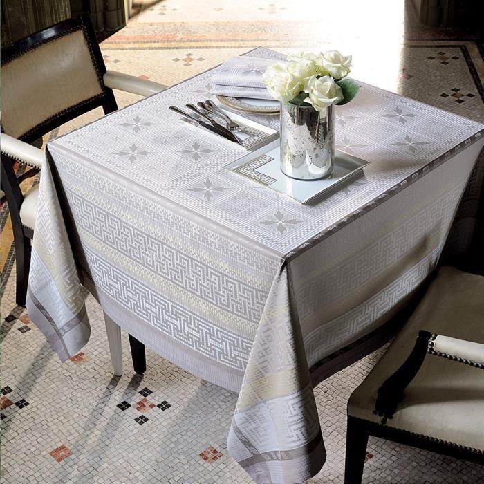 nappe antique terre 172x172 achat vente nappe de table cdiscount. Black Bedroom Furniture Sets. Home Design Ideas