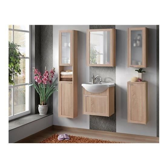 ensemble salle de bain naba bois clair composition achat vente salle de bain complete. Black Bedroom Furniture Sets. Home Design Ideas