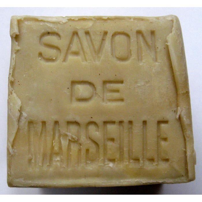 Savon de marseille v ritable blanc bloc de 400 g achat - Savon de marseille veritable ...