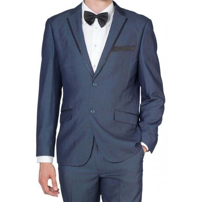 Costume homme bleu a 2 boutons ardoise achat vente costume tailleur costume homme bleu a - Costume original homme ...
