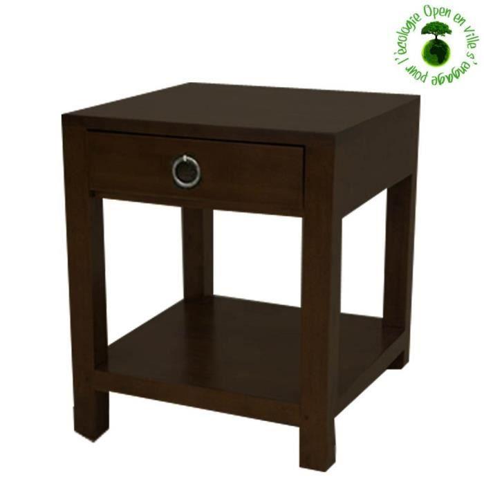 Table de chevet esthete en bois de shisham mass achat for Table de x 6