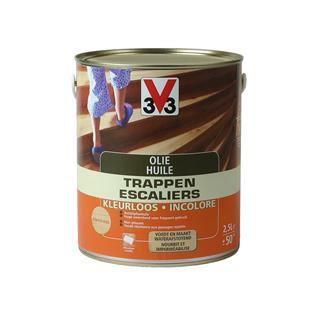 V33 huile escaliers incolore mat 1 l achat vente peinture vernis cdiscount for Peinture v33 escalier bois