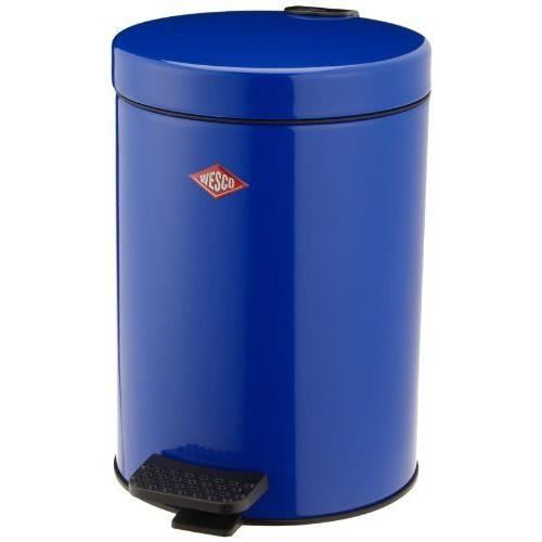 Wesco 104 012 53 poubelle de salle de bains bleu for Poubelle de salle de bain bleu