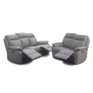salon complet gris achat vente salon complet gris pas cher cdiscount. Black Bedroom Furniture Sets. Home Design Ideas