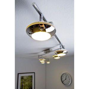 luminaire lustre lampe 6 spots sur rail led lustre achat. Black Bedroom Furniture Sets. Home Design Ideas