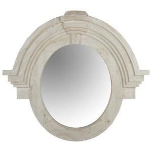 Miroir oeil de boeuf en bois blanchi oc ane achat for Miroir oeil de boeuf