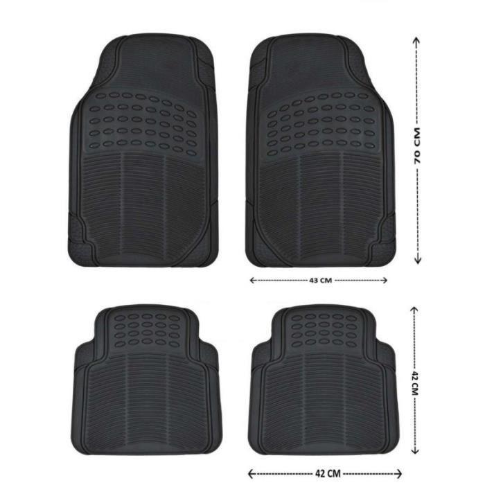 jeu tapis de voiture caoutchouc noirs pour peugeot 107 208 207 308 307 407 achat vente tapis. Black Bedroom Furniture Sets. Home Design Ideas