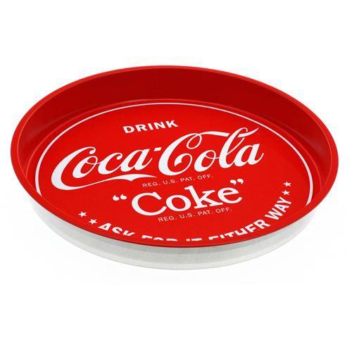 plateau coca cola m tal diam 33 cm achat vente plat de service cdiscount. Black Bedroom Furniture Sets. Home Design Ideas