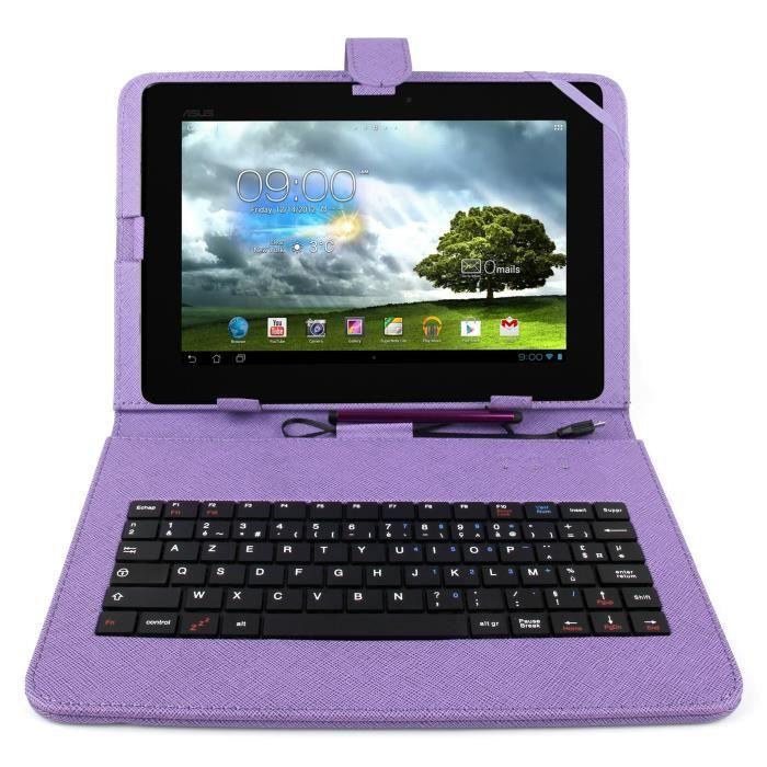etui violet clavier pour tablette asus memopad prix pas cher cdiscount. Black Bedroom Furniture Sets. Home Design Ideas