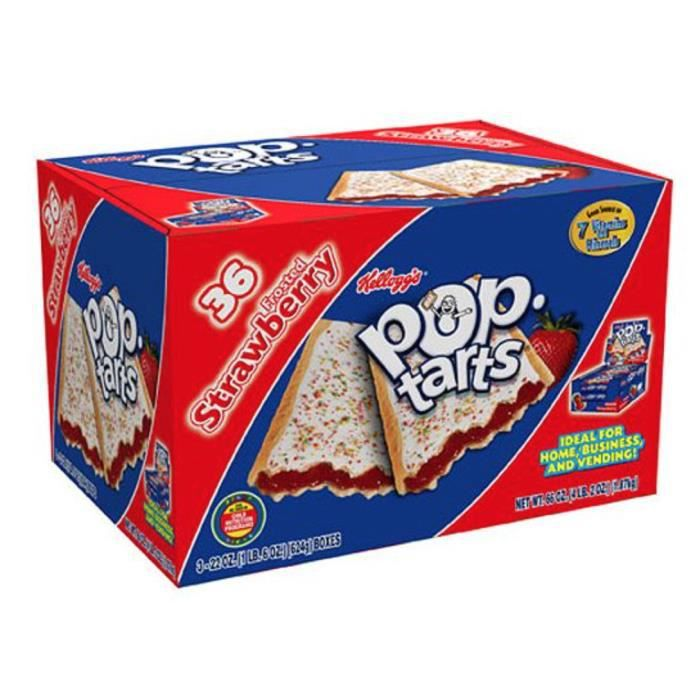 Pop Tarts Frosted Strawberry - Achat / Vente biscotte - assimilé Pop ...