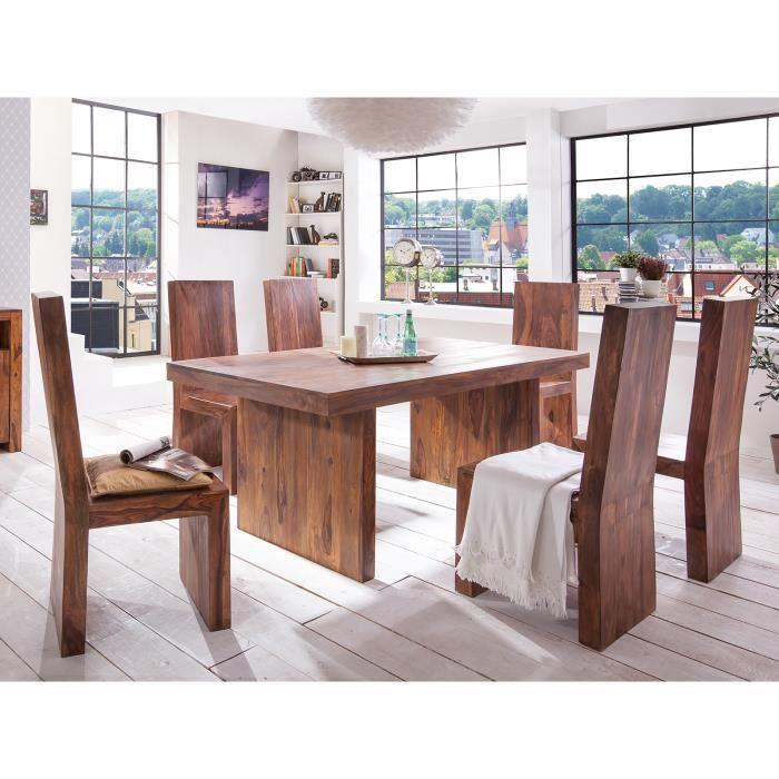 Table 180x100 et 6 chaises country ii en palissandre - Cdiscount table et chaise de cuisine ...