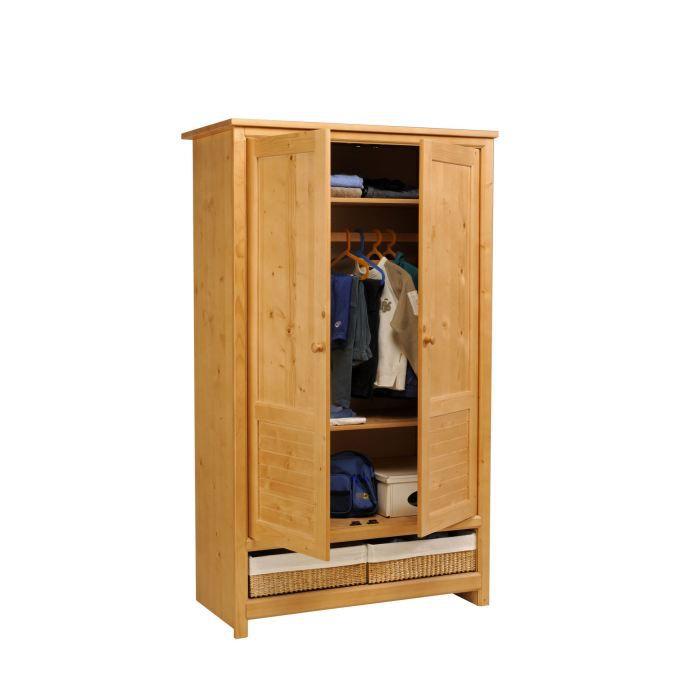 armoire enfant 2 portes nymphea achat vente armoire de. Black Bedroom Furniture Sets. Home Design Ideas