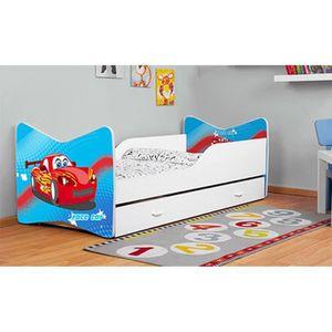 lit enfant avec tiroir avec couchage achat vente lit. Black Bedroom Furniture Sets. Home Design Ideas
