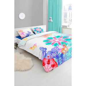 housse de couette pastel achat vente housse de couette pastel pas cher cdiscount. Black Bedroom Furniture Sets. Home Design Ideas