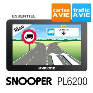 """CAMION GPS poids lourd Snooper carte à vie 7"""" PL6200"""