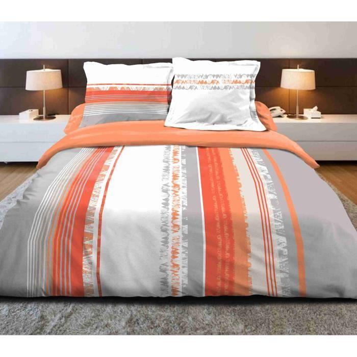 parure de draps 160x200 cm averse oragne achat vente parure de drap cdiscount. Black Bedroom Furniture Sets. Home Design Ideas