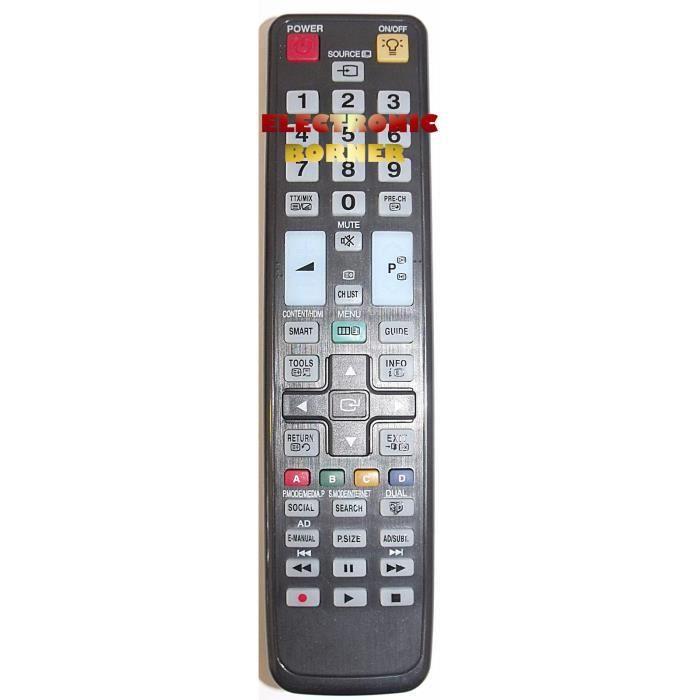 t l commande de remplacement pour samsung t l commande tv avis et prix pas cher cdiscount. Black Bedroom Furniture Sets. Home Design Ideas