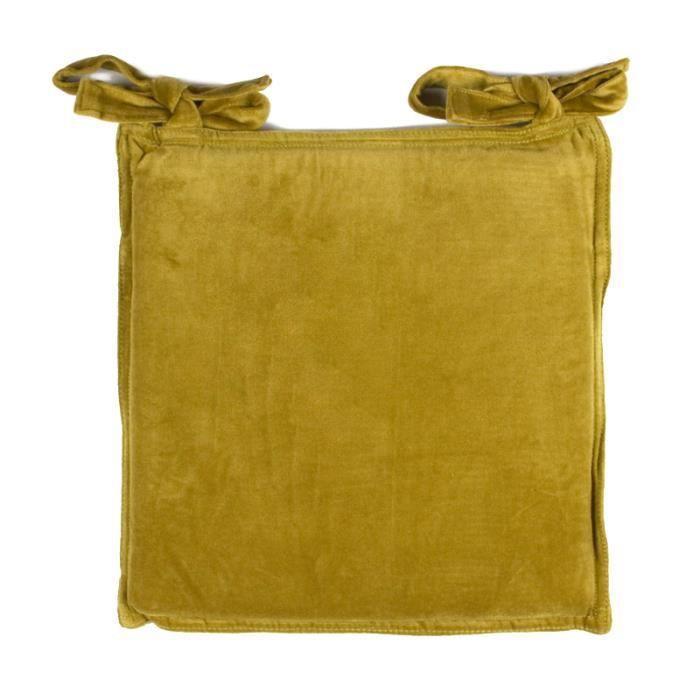 galette de chaise arthur 40x40x2cm vert mousse achat vente coussin de chaise cdiscount. Black Bedroom Furniture Sets. Home Design Ideas