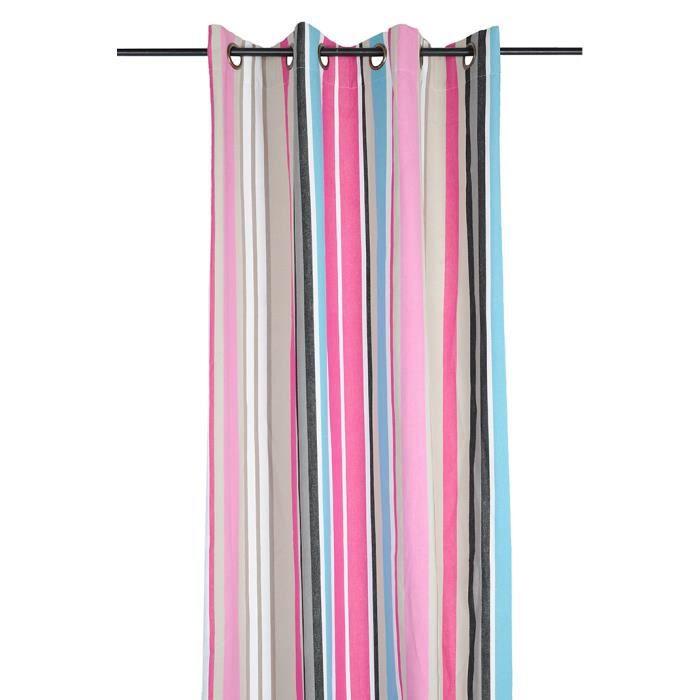 rideau panneau oeillets 135 x 240 cm vent achat vente rideau cdiscount. Black Bedroom Furniture Sets. Home Design Ideas