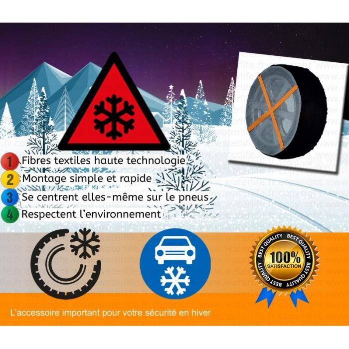 chaussettes neige pour pneus auto achat vente chaine neige chaussettes neige 620 cdiscount. Black Bedroom Furniture Sets. Home Design Ideas