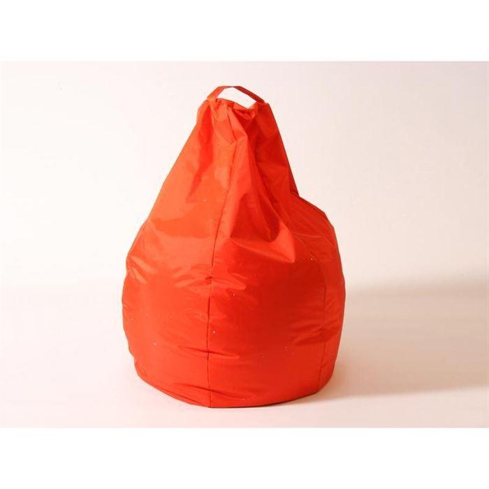 pouf poire nylon 260 l orange achat vente pouf poire. Black Bedroom Furniture Sets. Home Design Ideas