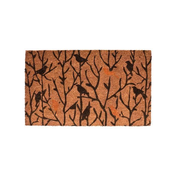 paillasson tapis d 39 entr e malai oiseaux marron achat vente paillasson cdiscount. Black Bedroom Furniture Sets. Home Design Ideas