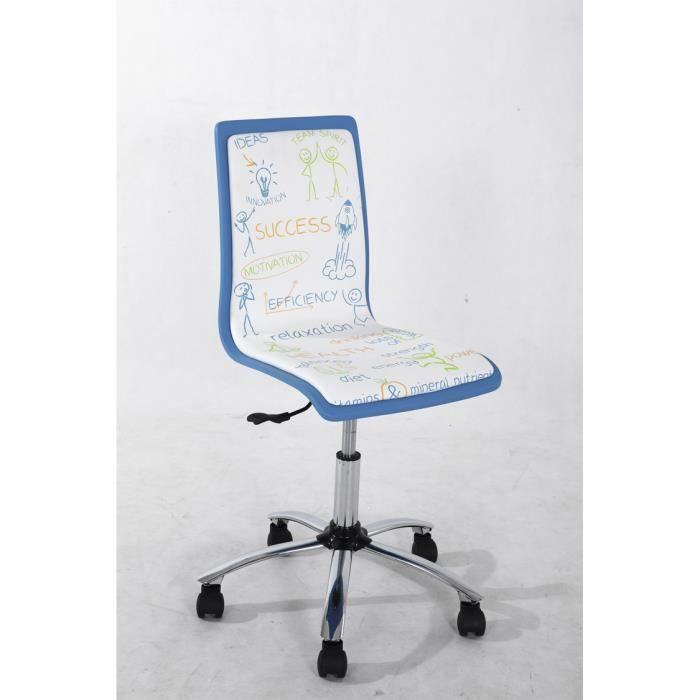 Chaise de bureau motif success dimensions h achat - Chaise de bureau bleu ...