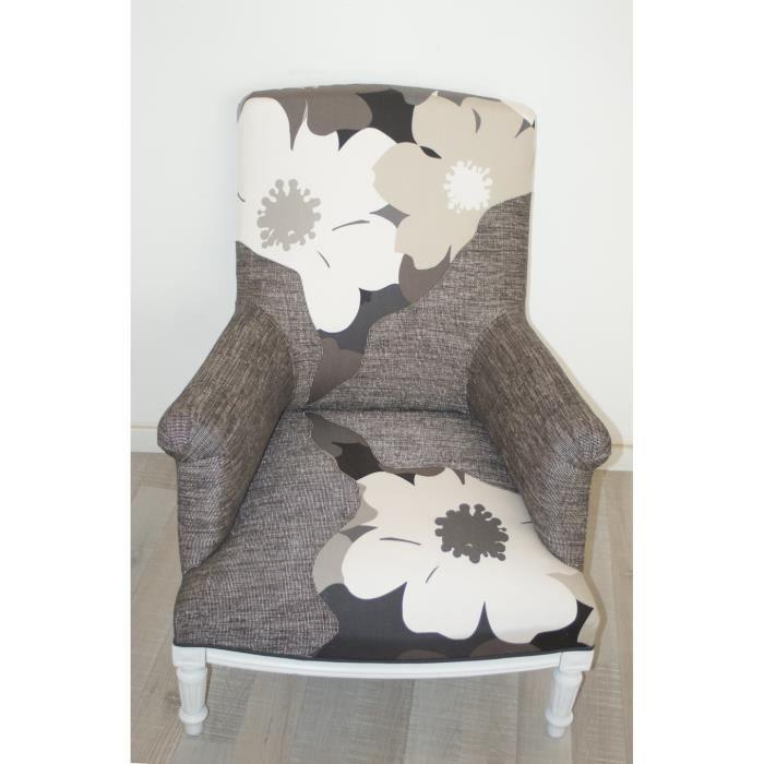 fauteuil anglais tissus vano pi ce unique achat vente fauteuil marron cdiscount. Black Bedroom Furniture Sets. Home Design Ideas