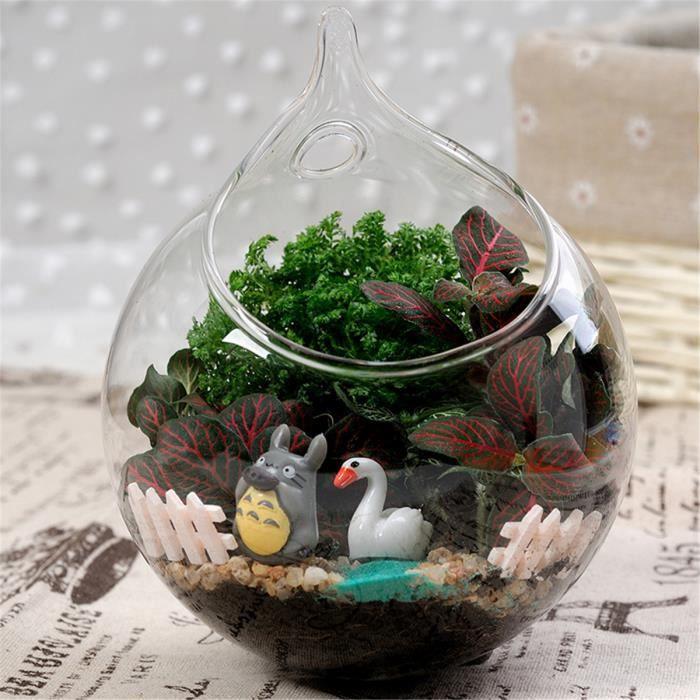 vase en verre fleur verre planteur vase terrarium maison jardin suspendu balle d coration 15cm. Black Bedroom Furniture Sets. Home Design Ideas