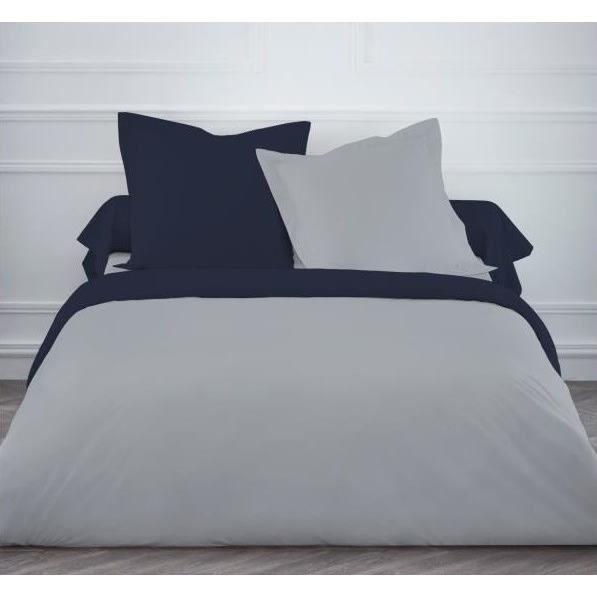 unie et bicolore gt housse de couette 240x260 grande. Black Bedroom Furniture Sets. Home Design Ideas