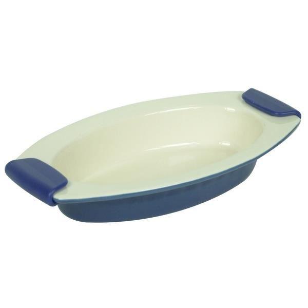plat ovale de cuisson en ceramique poignees silicone. Black Bedroom Furniture Sets. Home Design Ideas